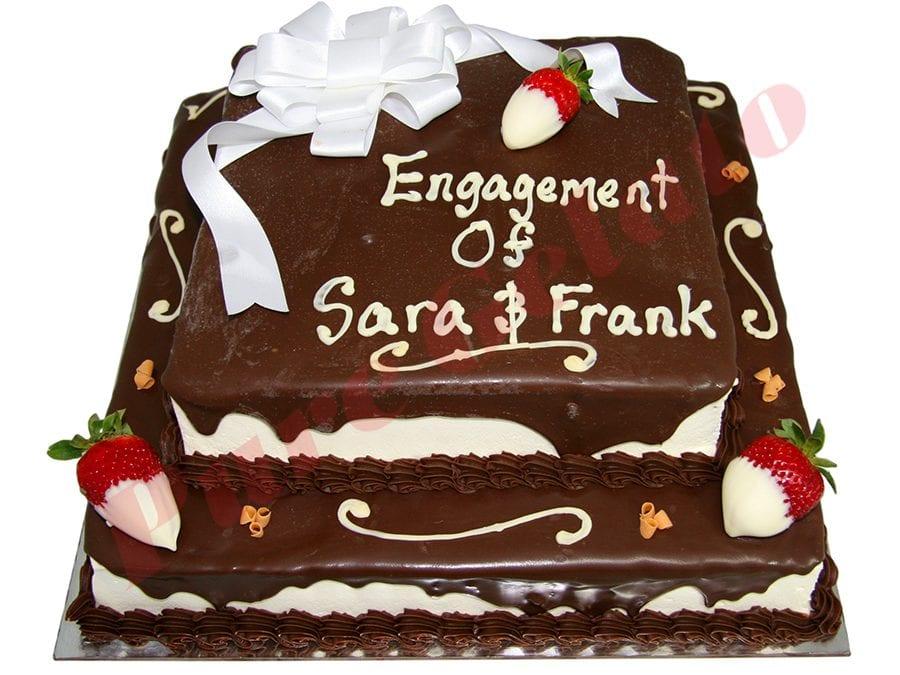 2 Tier Cake Chocolate Drip Square