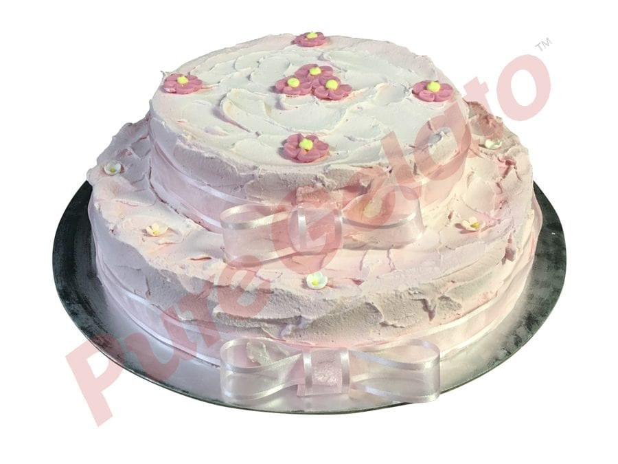 2-tier-cake-spatula-finish-baby-pink-smooth-creamribbon