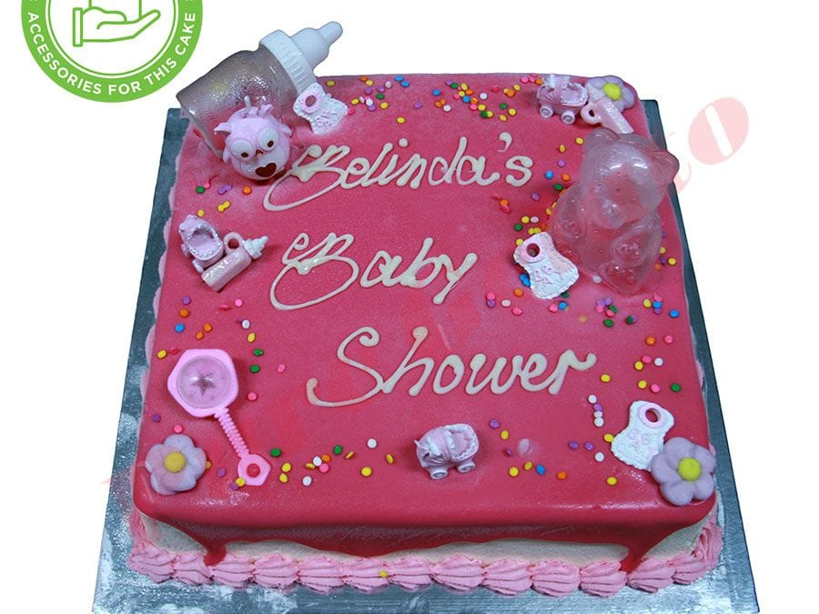 Baby Shower Pink Choc Drip Baby Pink Piping Customers Acc