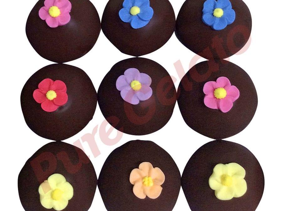 Choc Drip Gelato Cup Cakes+Sugar Flowers