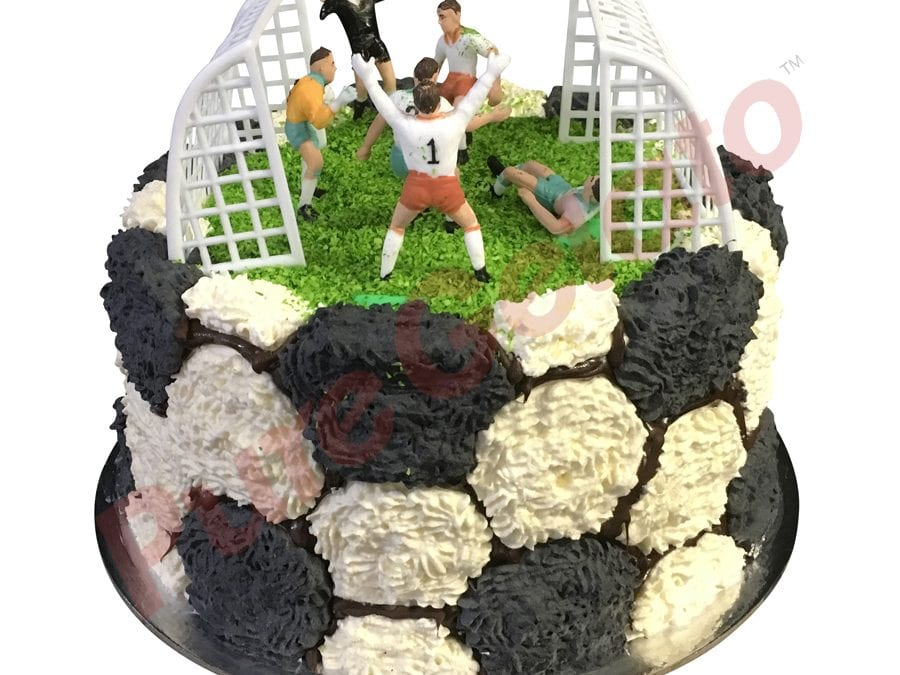 Double Stack Cream Piping Soccer Field