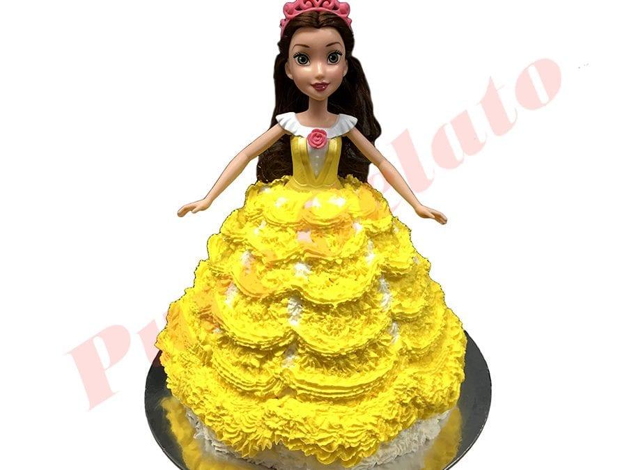 Doll Cake Belle Yelllow Dress+White piping