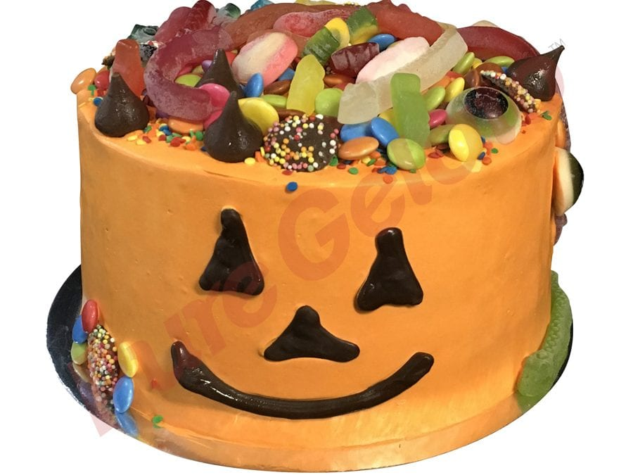 Halloween Pumpkin Face Double Stack With Lollies