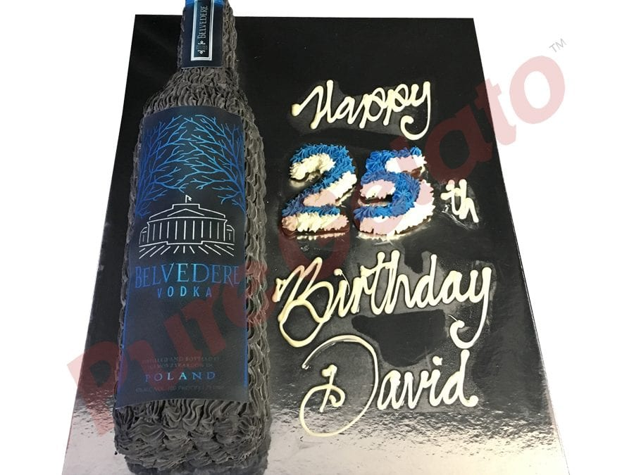 Bottle Cake Belvedere Vodka Limited Editions