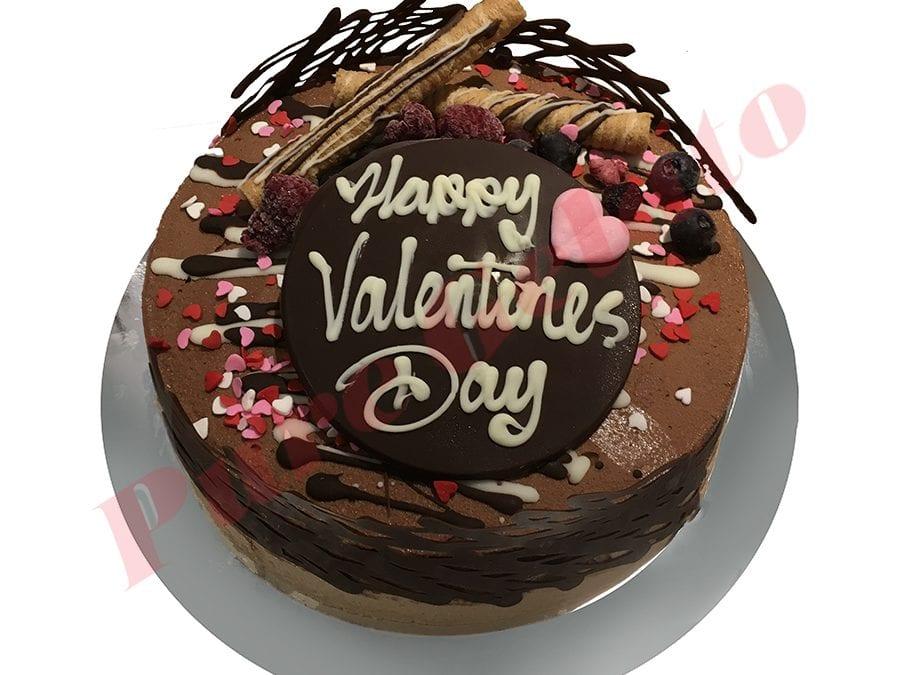 Non Cream Decorated Round Valentines Day+Heart Sprinkles