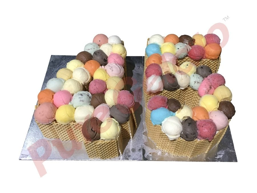 NUMERAL CAKE 45 SCOOP CAKE WAFER SIDES