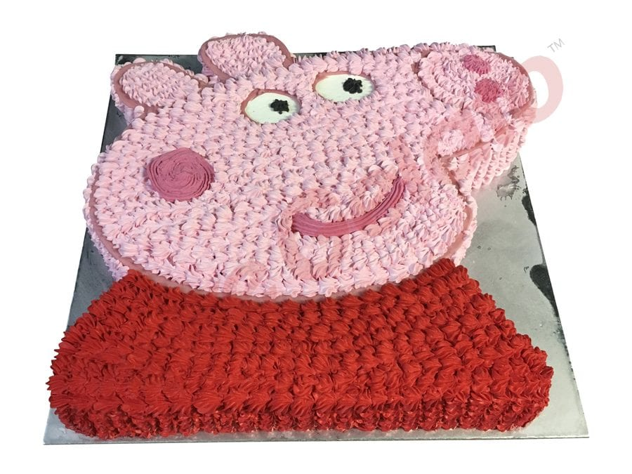 Peppa Pig Face Gelato Cake 45 Person Size
