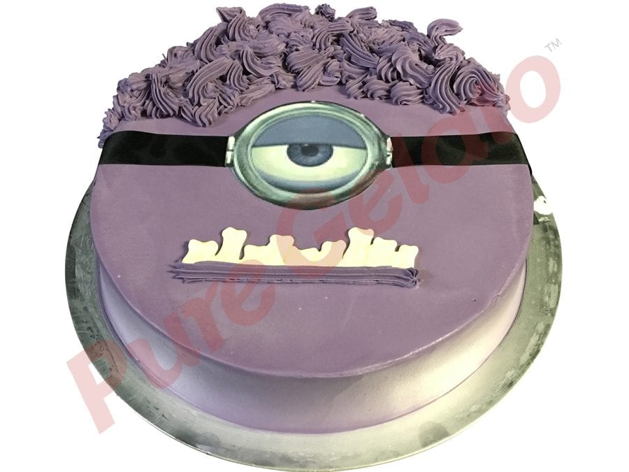 Minion Face Purple Gelato Cake
