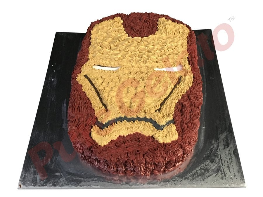 Ironman Face Gelato Cake