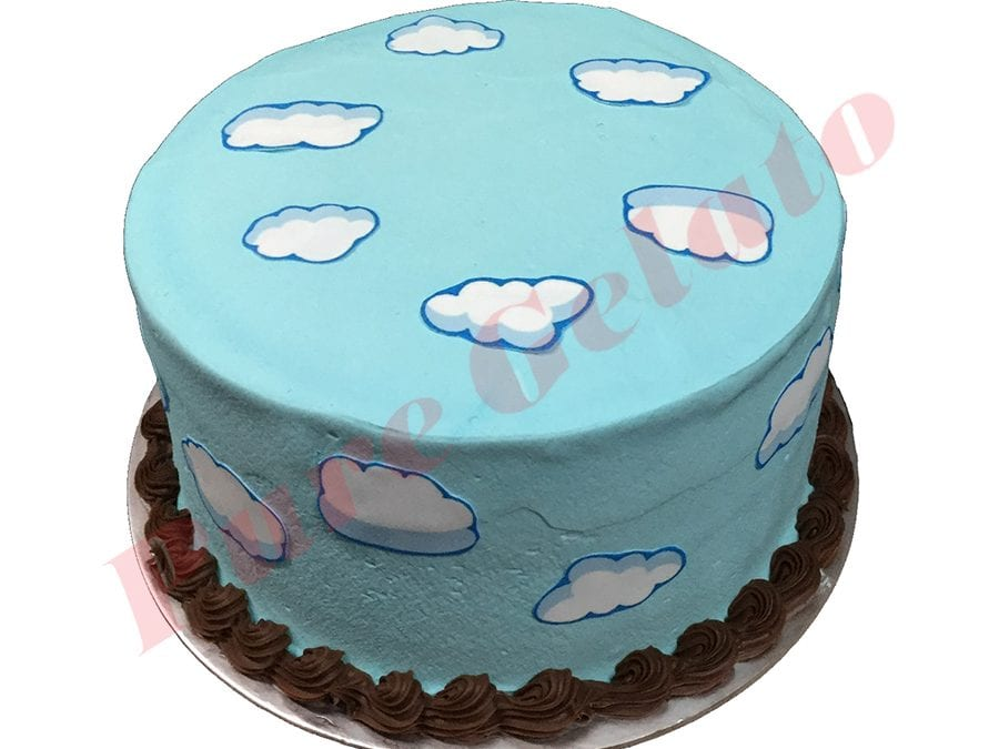 Smooth Baby Blue Cream Double Stack Clouds Scan all over