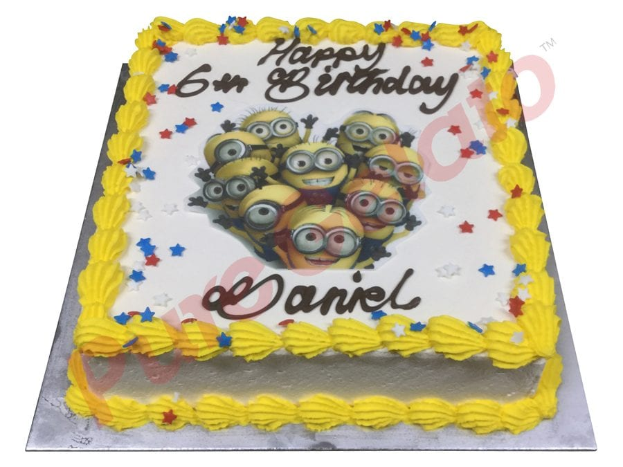 Smooth Cream Yellow Piping+Minion Image