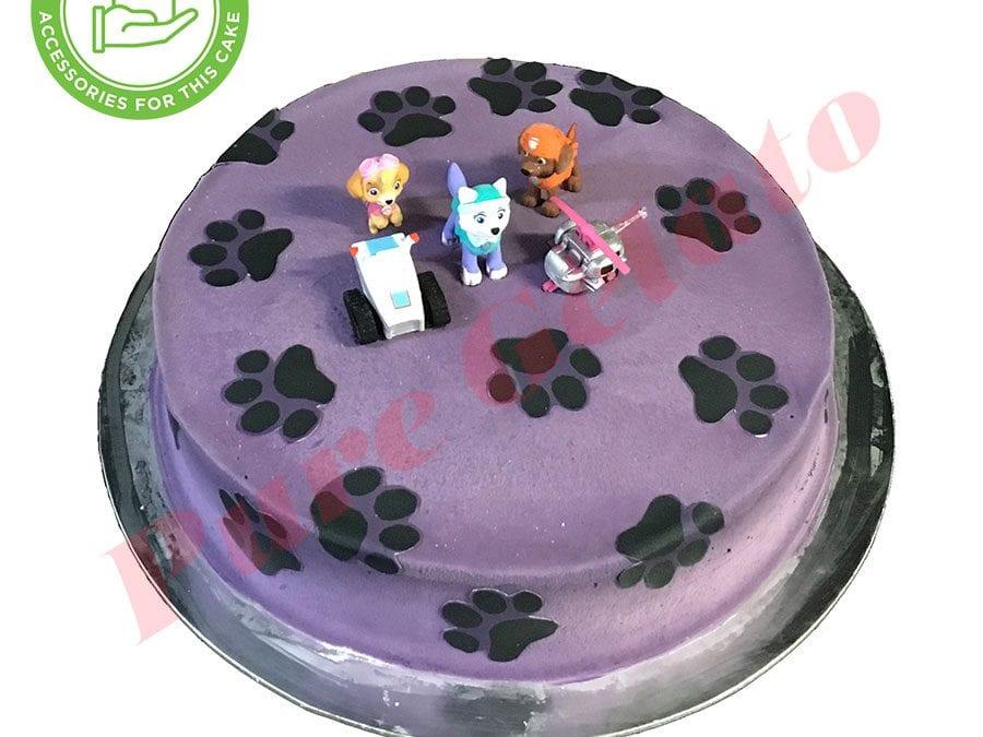 Smooth Purple Cream Paws Scan+Customer Supplied figurines