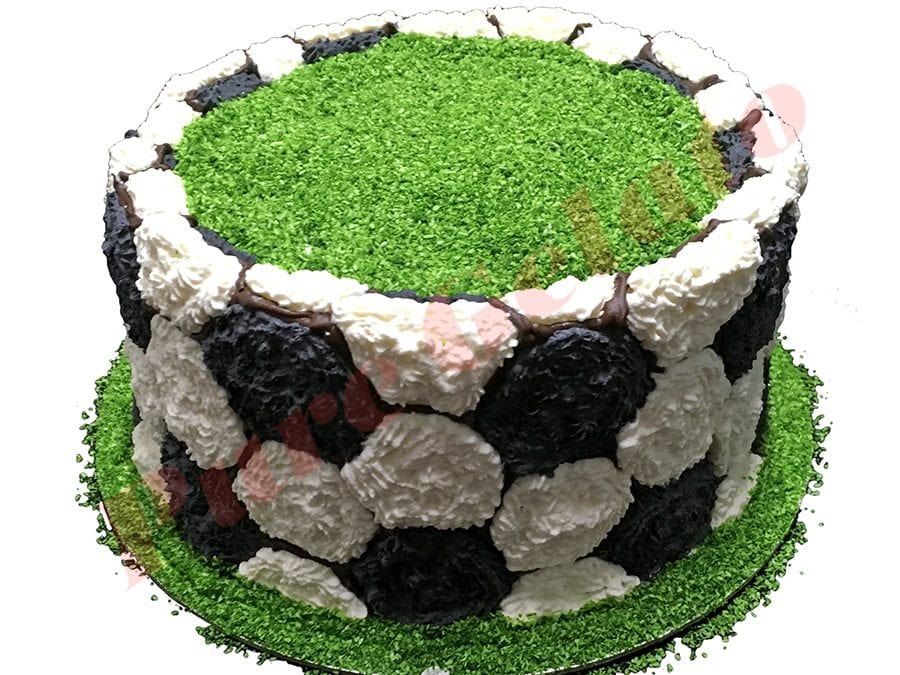 Sports Field Cake Double Stack Soccer Ball