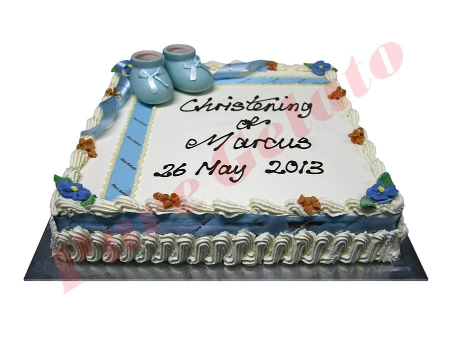 Traditional with Baby Blue Ribbon+Booties 45 Person Size