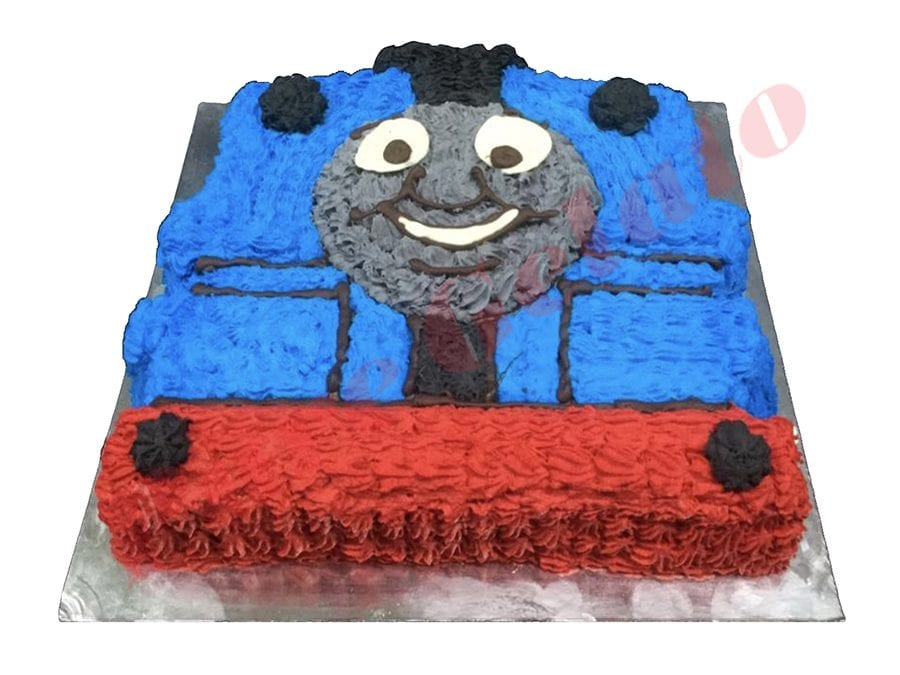 Train Cake Thomas Tank Themed Cream Piping all over