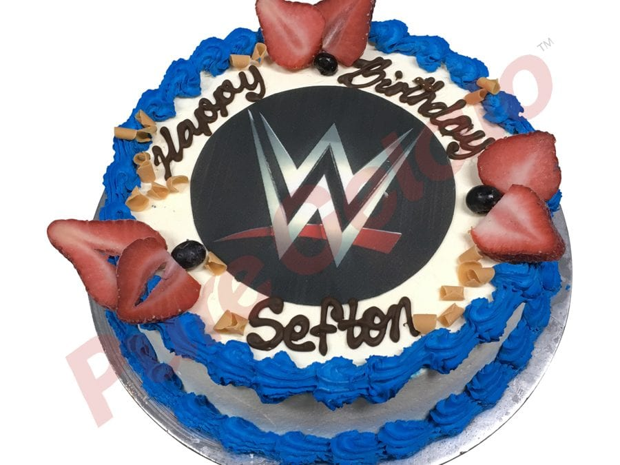 WWE Smooth Cream Blue Piping+Image