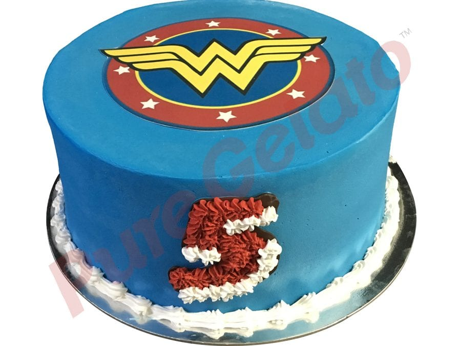 Wonder Woman Blue Smooth Cream Double Stack+Image