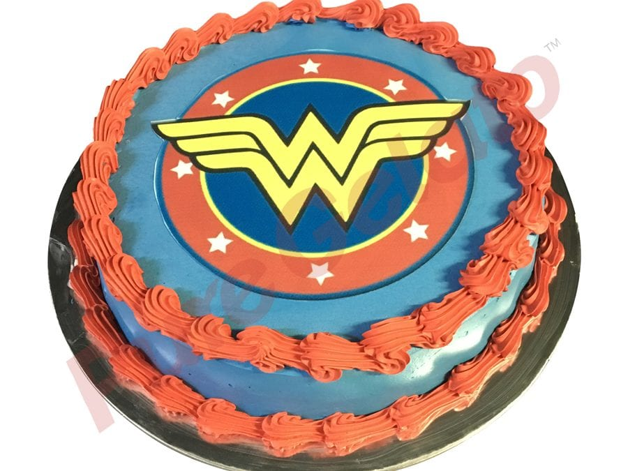 Wonder Woman Blue Smooth Cream Red Piping+Image