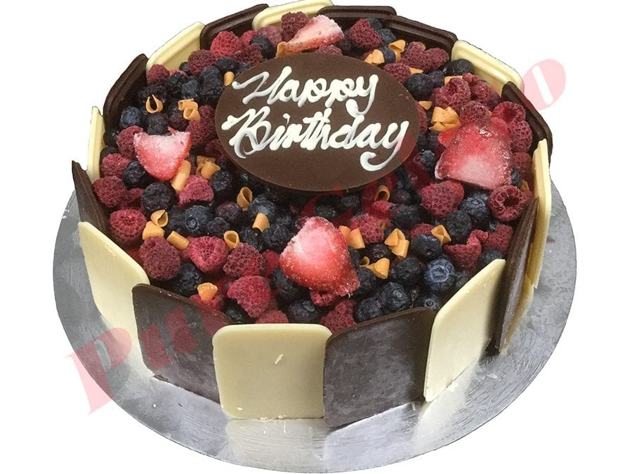 Choc Berry Cake Round+Plaque
