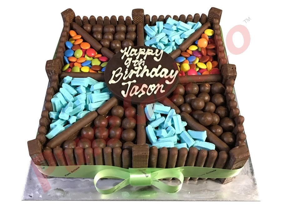 Choc teaser Square Blue themed