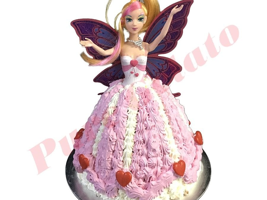 Doll Cake Fairy Pink Dress White Piping+Hearts