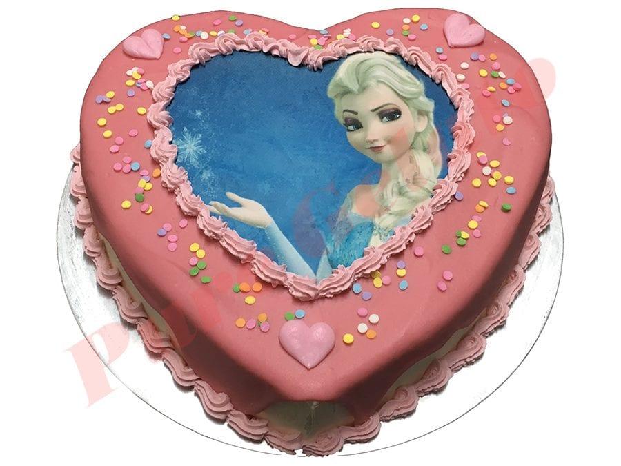 Heart Cake Pink Choc Drip Baby pink piping+Elisa scan