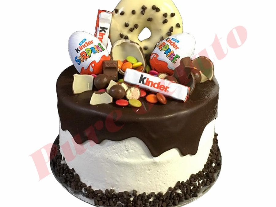 Kinder Surprise Cluster Choc Drip Double Stack