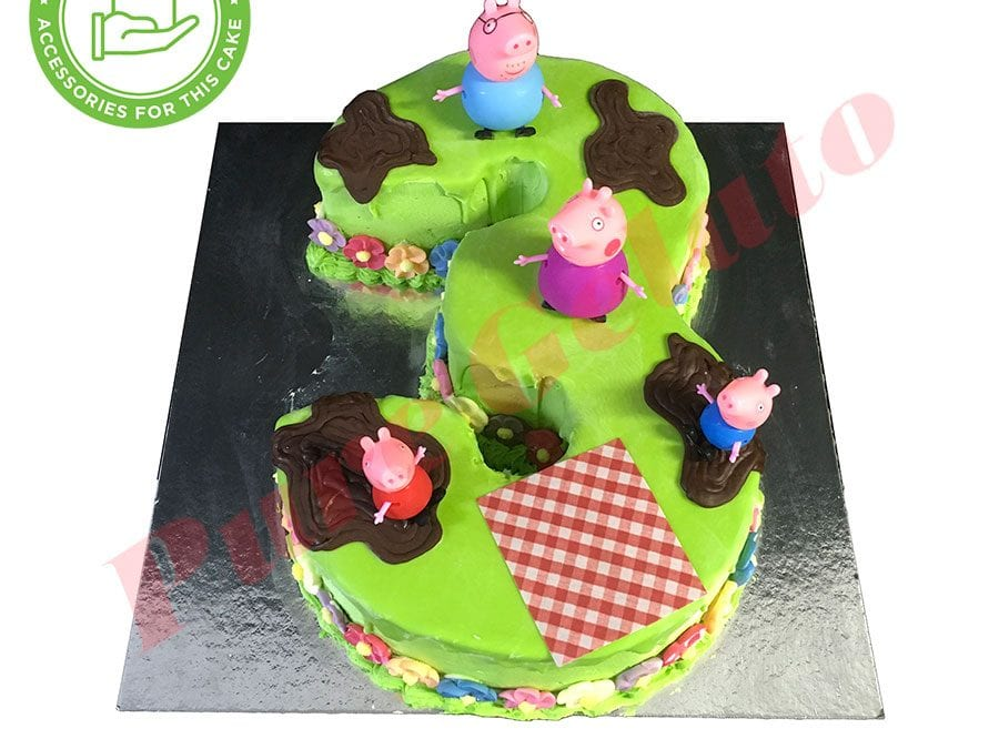 Numeral Cake 3 Lime Green Choc drip Lime piping+customers acc