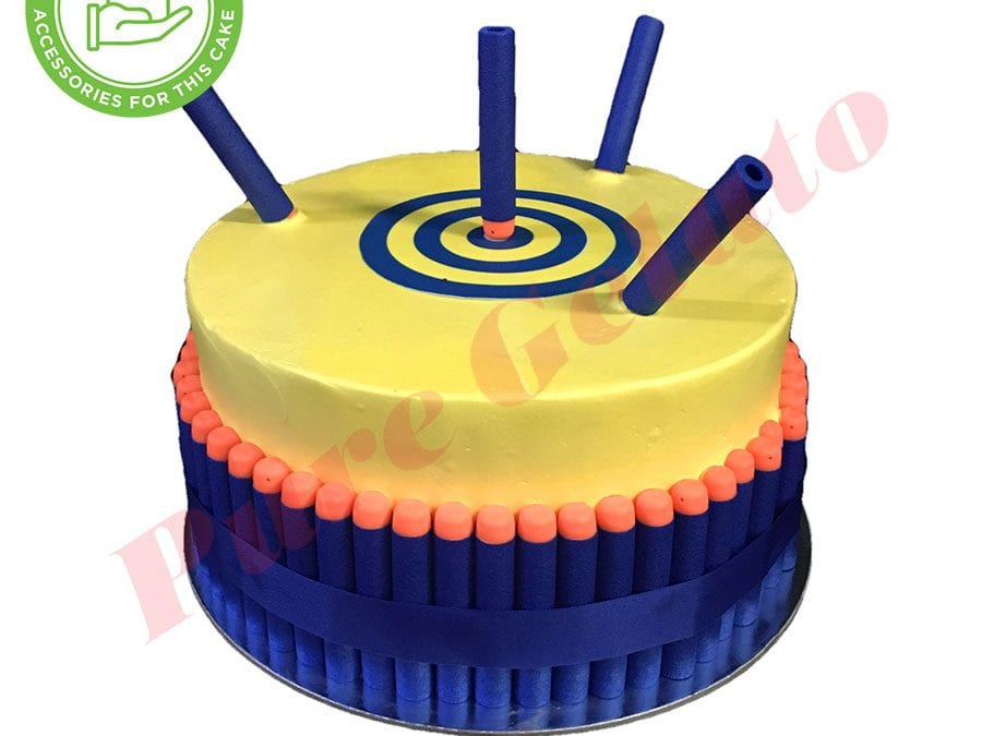 smooth yellow cream double stack nerf themed target scan customer acc