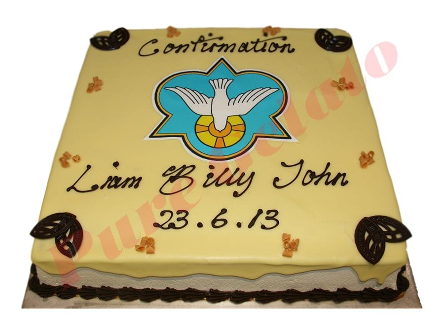 White choc drip square choc piping+confirmation scan