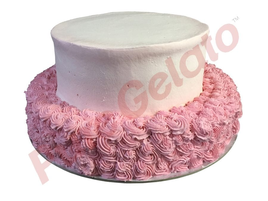2 tier 3 stack baby pink smooth Cream pink rosettes