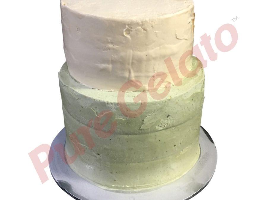 2 tier 5 stack Naked Cake hazelnut pistachio