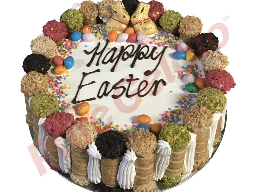 Cannoli Gelato Cake Easter themed