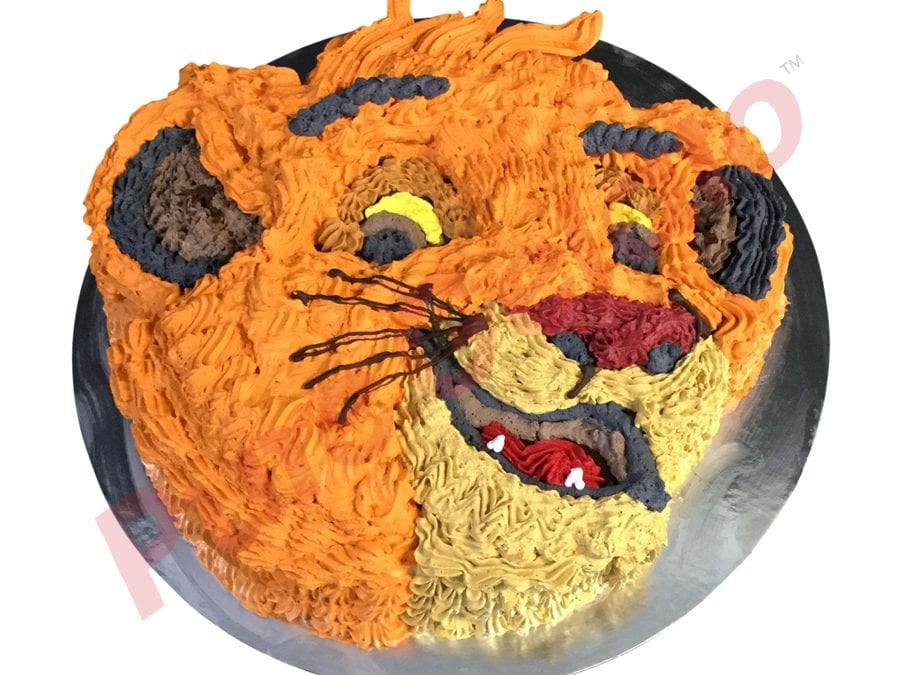 Lion face gelato Cake