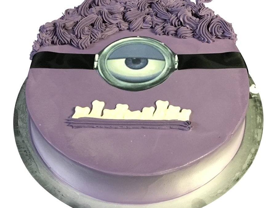 Smooth Purple Cream Minion With Scan