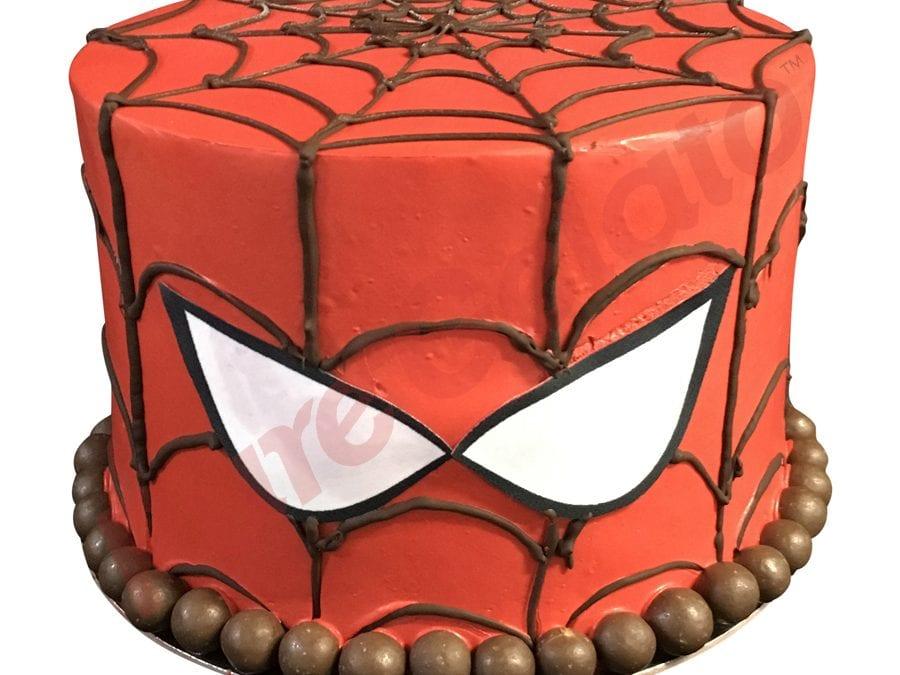 SPIDERMAN FACE TRIPLE STACK GELATO CAKE+CHOCOLATES