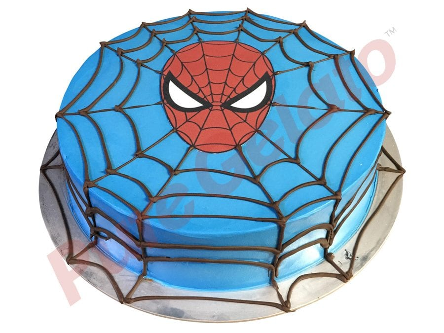 SPIDERMAN WEB FACE GELATO CAKE