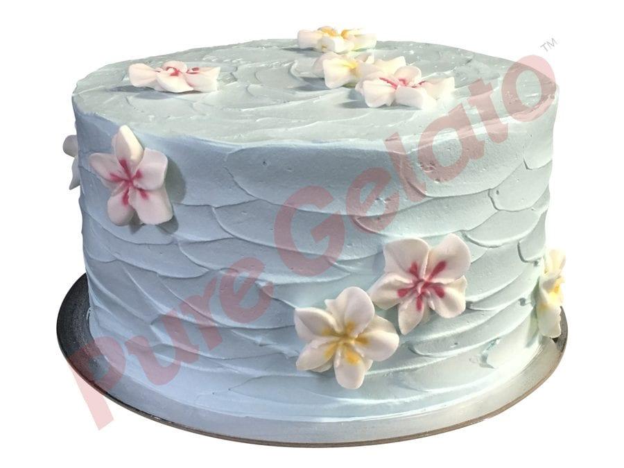 Spatula-Cream-Finish-Double-Stack-Baby-Blue+Frangipanis_