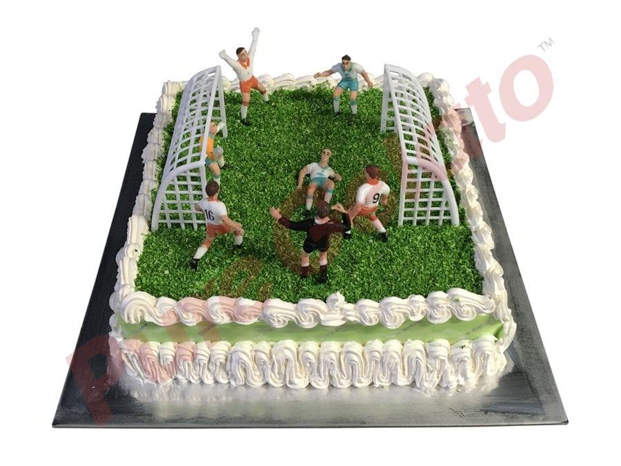 Sports-field-Cake-Square-Full-Soccer-field-green-ribbon-cream-decorated