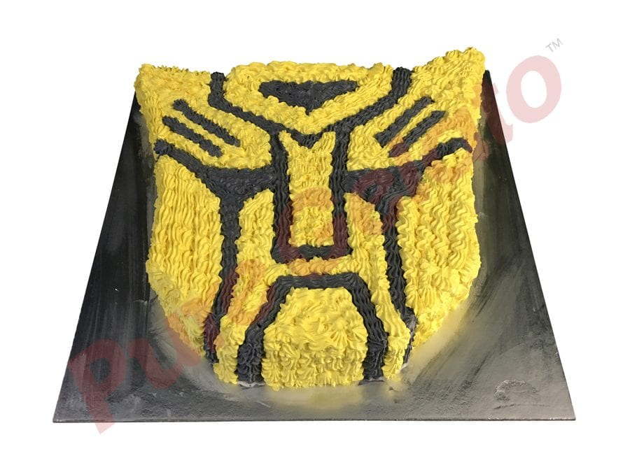 Transformer face bumblebee Gelato Cake