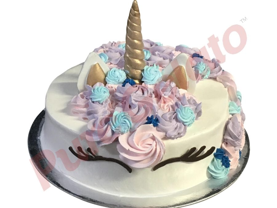 UNICORN CAKE WHITE SMOOTH CREAM+COLOURED CREAM