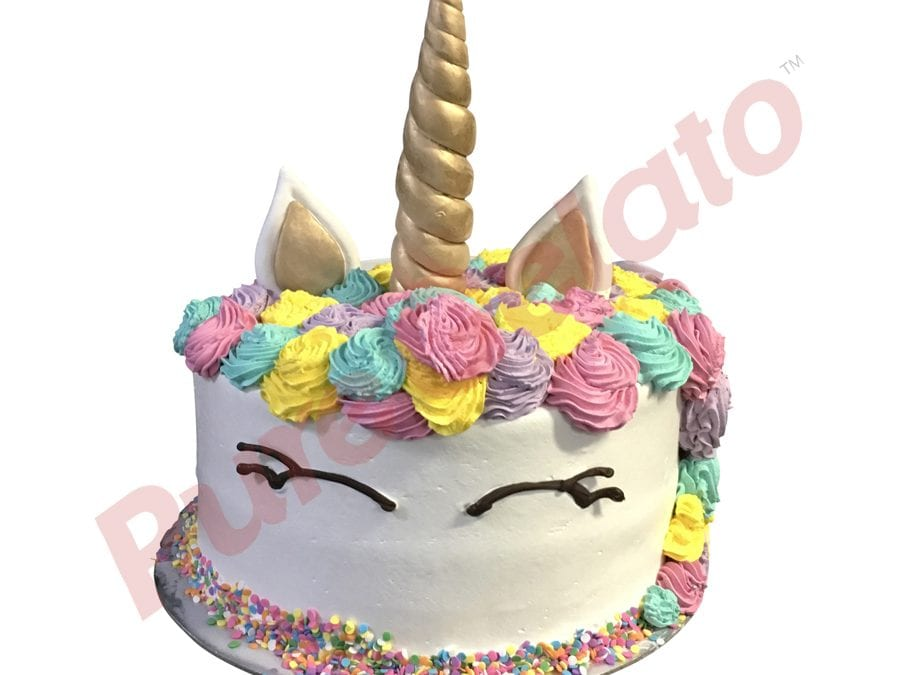 UNICORN FACE Double stack Pastel Colours With Sprinkles