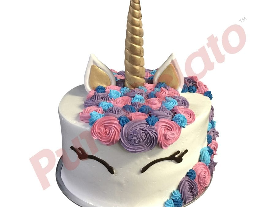 UNICORN FACE Double stack Purple pink Blue Colours