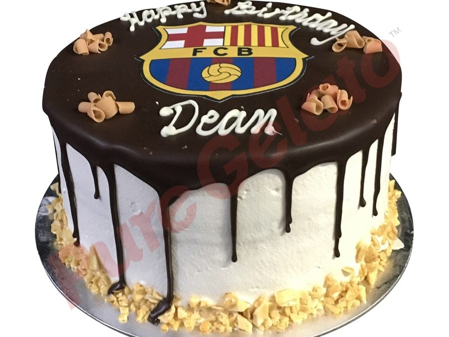 Double Stack Choc Drip Barcelona logo honeycomb edge