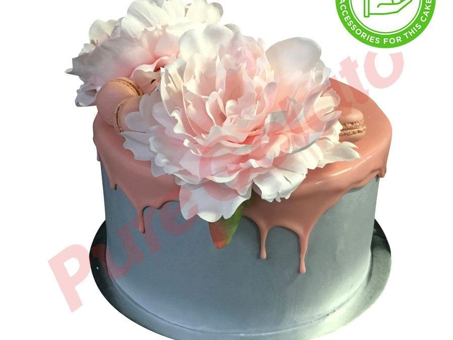 Double Stack light pink Choc Drip grey cream+customer acc
