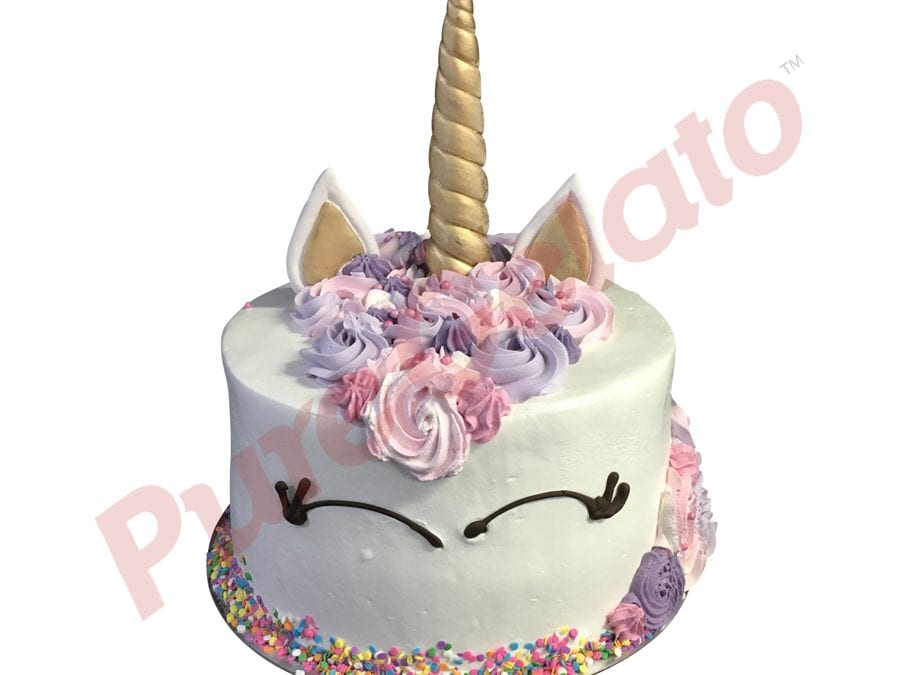 Double Stack unicorn purple lilac pink cream+sprinkles
