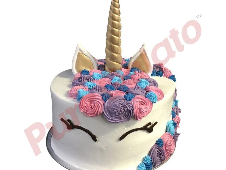 Double Stack unicorn purple pink Blue Cream
