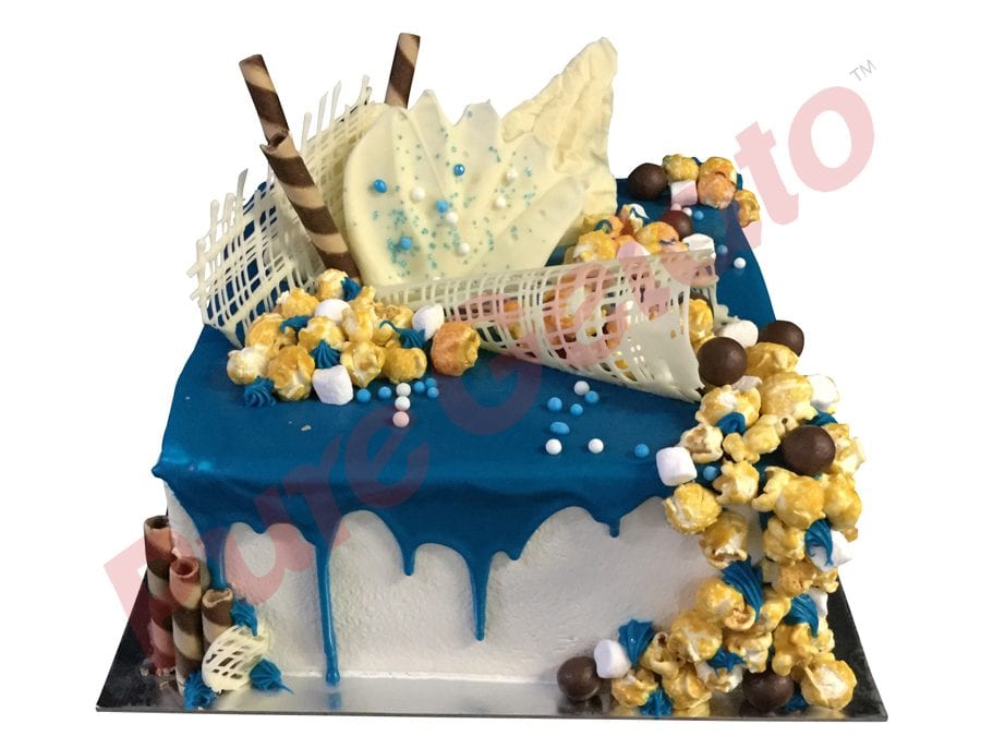 Double stack Blue choc drip square Mega cluster