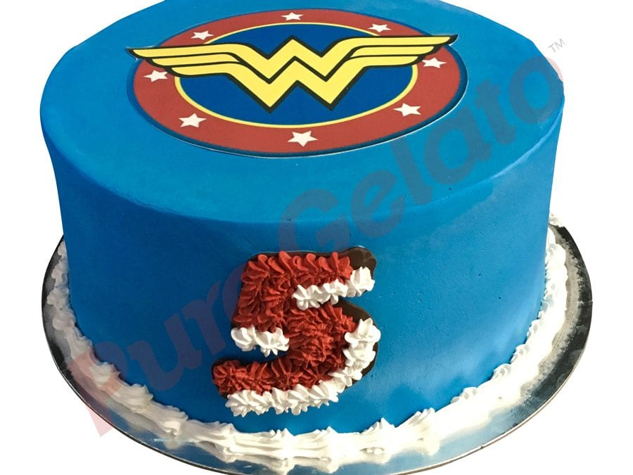 Double stack Blue smooth Cream wonder woman theme