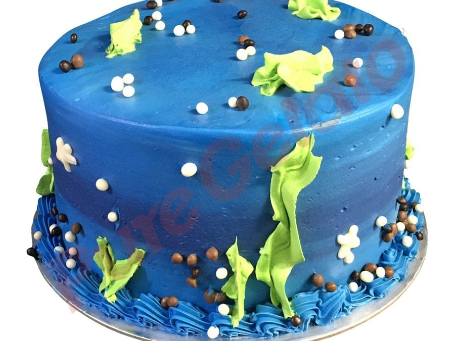 Double stack Blue toned smooth Cream under the sea themed